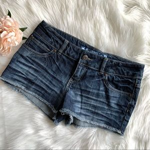Celebrity Pink Jeans Cut-Off Jean Shorts Whiskered